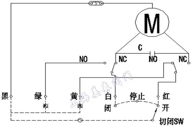 (图5-1 dn15,dn25电动阀接线图)图片